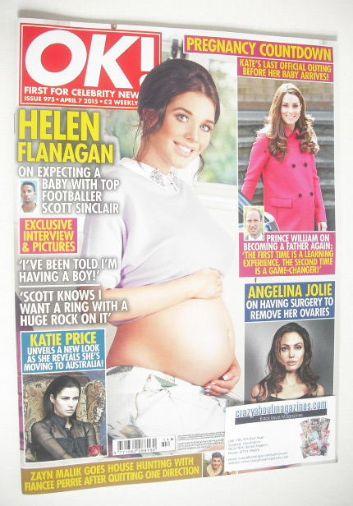 <!--2015-04-07-->OK! magazine - Helen Flanagan cover (7 April 2015 - Issue