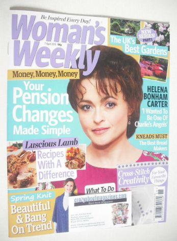 <!--2015-04-07-->Woman's Weekly magazine (7 April 2015 - Helena Bonham Cart