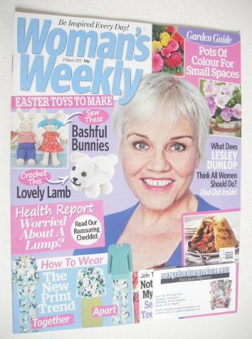 <!--2015-03-17-->Woman's Weekly magazine (17 March 2015 - Lesley Dunlop cov