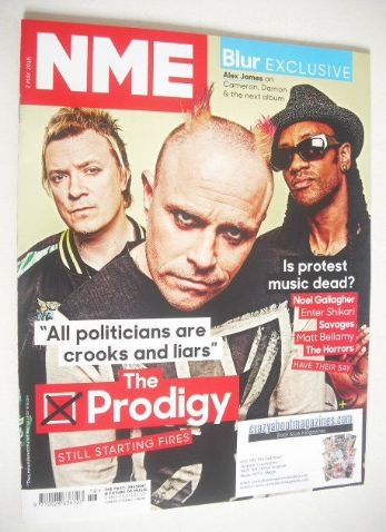 <!--2015-05-02-->NME magazine - The Prodigy cover (2 May 2015)