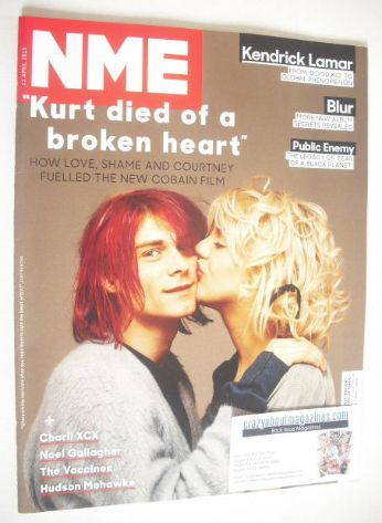 <!--2015-04-11-->NME magazine - Kurt Cobain and Courtney Love cover (11 Apr