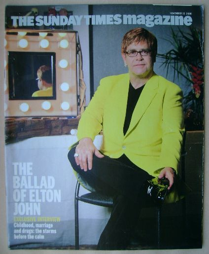 <!--2000-11-12-->The Sunday Times magazine - Elton John cover (12 November