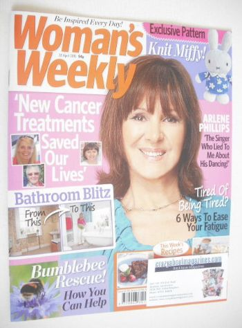 <!--2015-04-28-->Woman's Weekly magazine (28 April 2015 - Arlene Phillips c