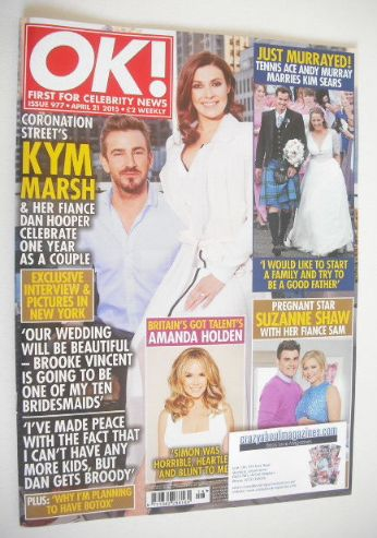 <!--2015-04-21-->OK! magazine - Kym Marsh and Dan Hooper cover (21 April 20