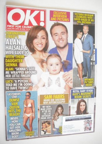 <!--2015-04-28-->OK! magazine - Alan Halsall and Lucy-Jo Hudson cover (28 A