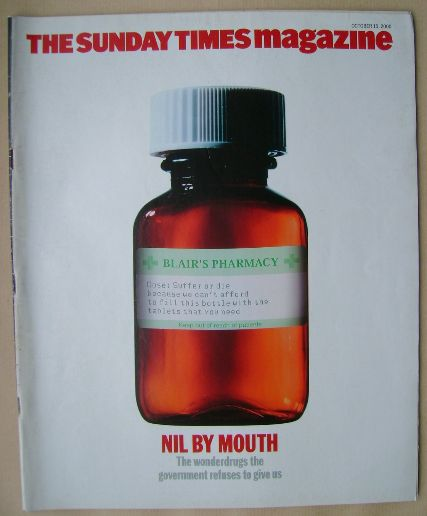 <!--2000-10-15-->The Sunday Times magazine - Nil By Mouth cover (15 October