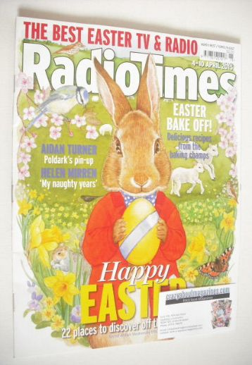 <!--2015-04-04-->Radio Times magazine - Happy Easter cover (4-10 April 2015