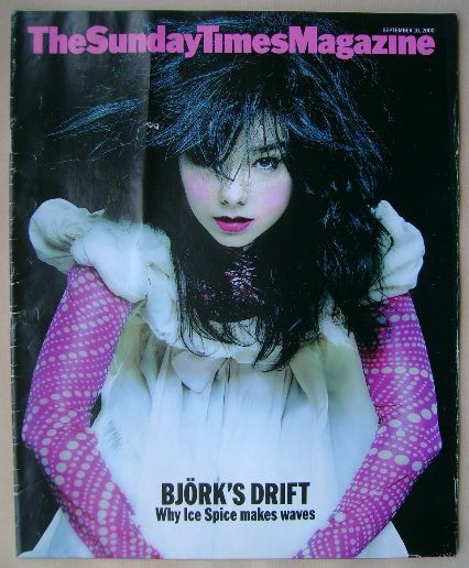 <!--2000-09-10-->The Sunday Times magazine - Bjork cover (10 September 2000