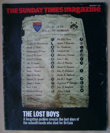 <!--2000-11-05-->The Sunday Times magazine - The Lost Boys cover (5 Novembe