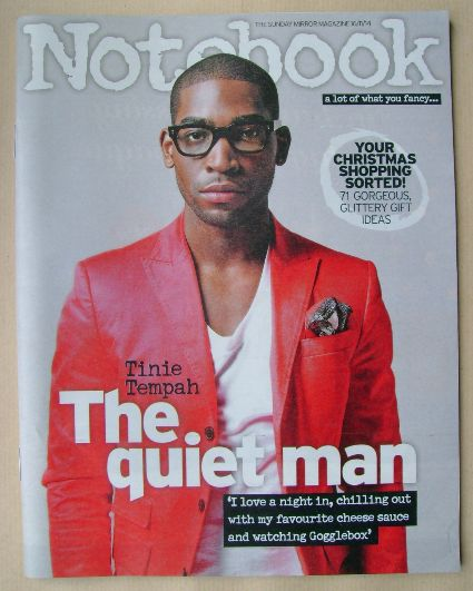 <!--2014-11-16-->Notebook magazine - Tinie Tempah cover (16 November 2014)