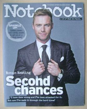 Notebook magazine - Ronan Keating cover (30 November 2014)
