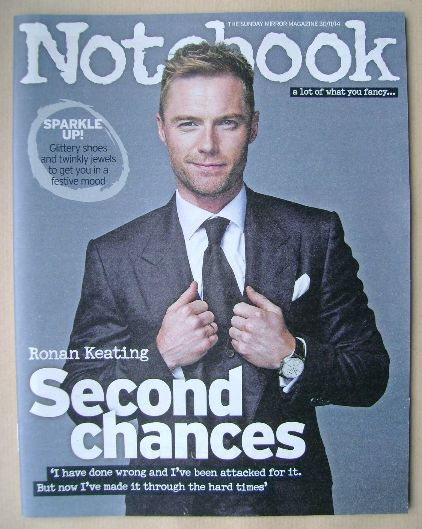 <!--2014-11-30-->Notebook magazine - Ronan Keating cover (30 November 2014)