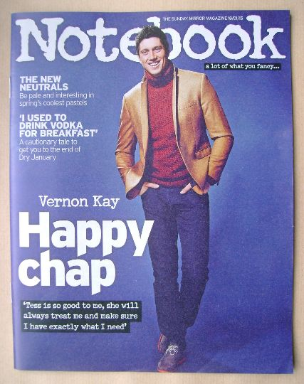 <!--2015-01-18-->Notebook magazine - Vernon Kay cover (18 January 2015)