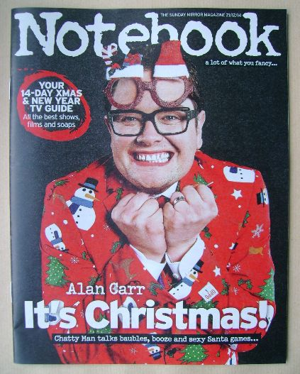 <!--2014-12-21-->Notebook magazine - Alan Carr cover (21 December 2014)
