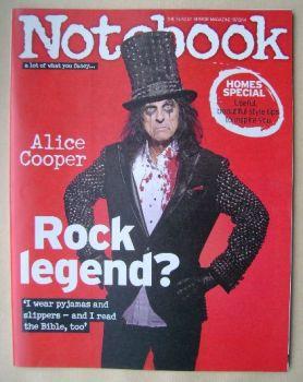 Notebook magazine - Alice Cooper cover (19 October 2014)