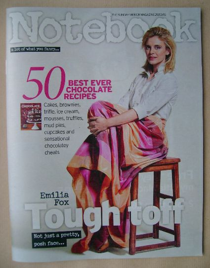 <!--2015-03-29-->Notebook magazine - Emilia Fox cover (29 March 2015)