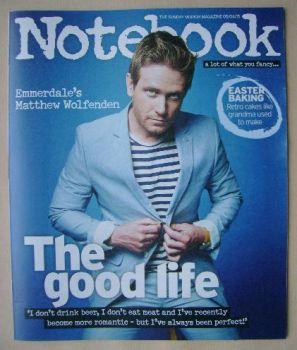 Notebook magazine - Matthew Wolfenden cover (5 April 2015)