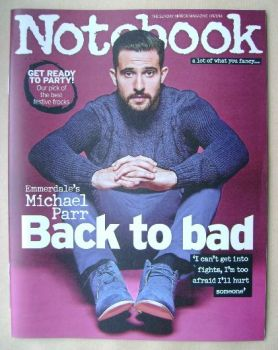 Notebook magazine - Michael Parr cover (9 November 2014)