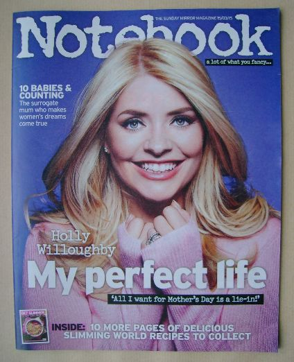 <!--2015-03-15-->Notebook magazine - Holly Willoughby cover (15 March 2015)