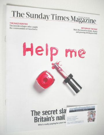 <!--2013-08-18-->The Sunday Times magazine - Britain's Nail Bars cover (18