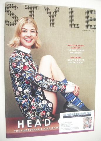 <!--2013-08-18-->Style magazine - Rosamund Pike cover (18 August 2013)