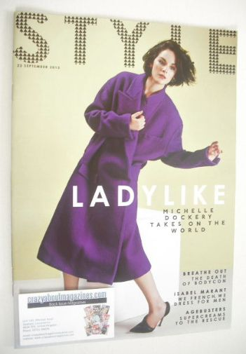 <!--2013-09-22-->Style magazine - Michelle Dockery cover (22 September 2013