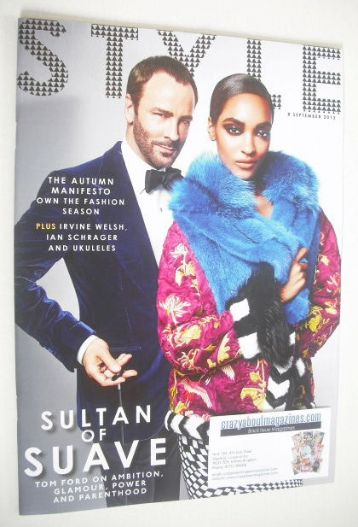 <!--2013-09-08-->Style magazine - Tom Ford and Jourdan Dunn cover (8 Novemb