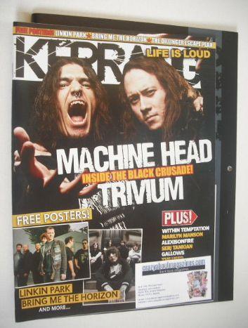 <!--2007-12-01-->Kerrang magazine - Machine Head/Trivium cover (1 December