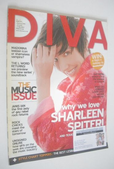 <!--2006-08-->Diva magazine - Sharleen Spiteri cover (August 2006 - Issue 1