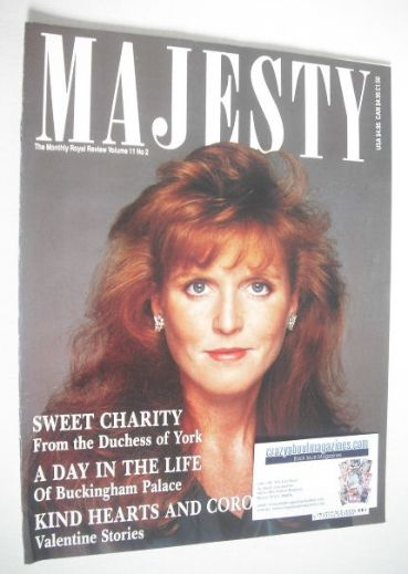 <!--1990-02-->Majesty magazine - Sarah Ferguson cover (February 1990 - Volu