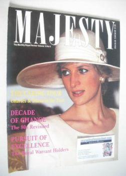 Majesty magazine - Princess Diana cover (January 1990 - Volume 10 No 9)