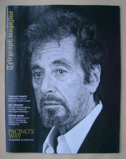 <!--2015-05-16-->Telegraph magazine - Al Pacino cover (16 May 2015)