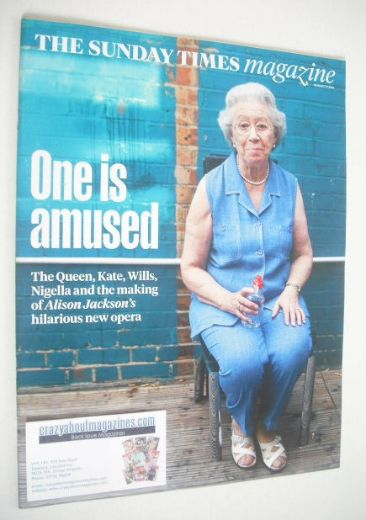 <!--2014-08-17-->The Sunday Times magazine - One Is Amused cover (17 August