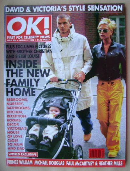 <!--2000-03-31-->OK! magazine - David and Victoria Beckham (31 March 2000 -