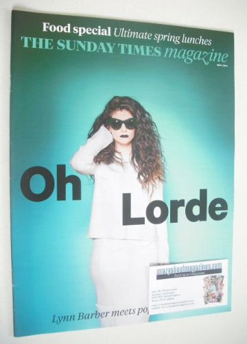 <!--2014-05-04-->The Sunday Times magazine - Lorde cover (4 May 2014)