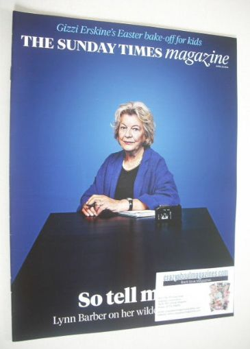 <!--2014-04-20-->The Sunday Times magazine - Lynn Barber cover (20 April 20