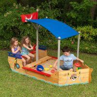 Kids Outdoor Pirate Ship Sandbox