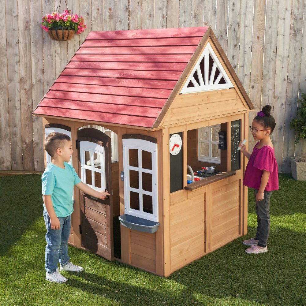 Fairmeadow Kids Wooden Playhouse