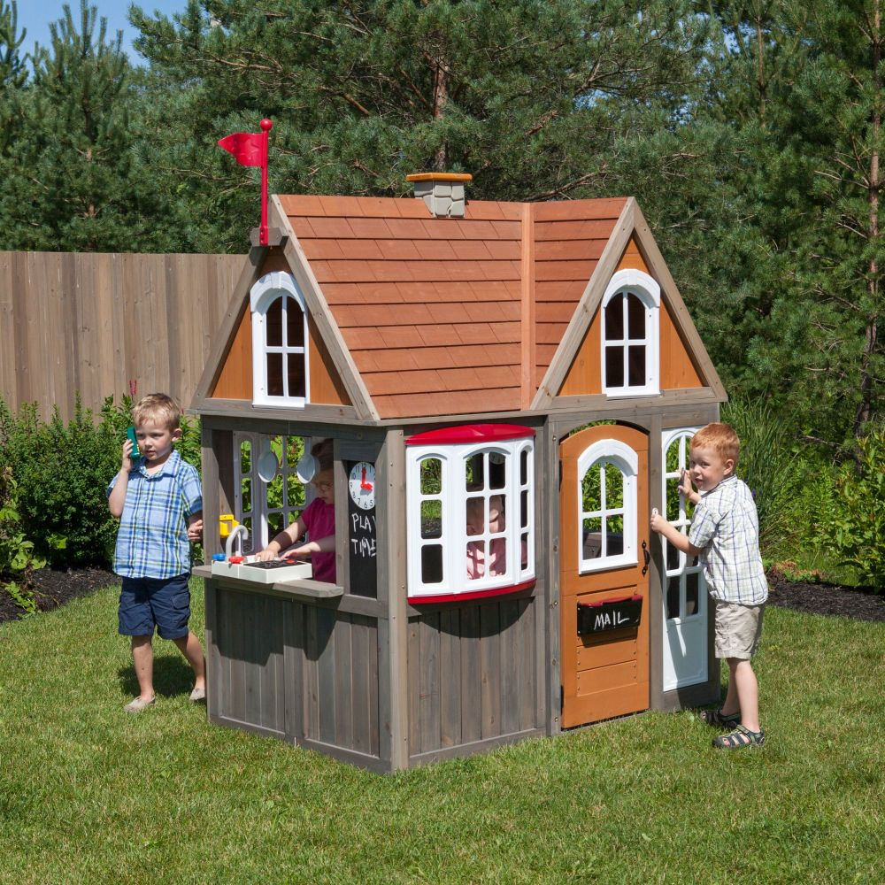 Greystone Cottage Playhouse with EZ Kraft Assembly™