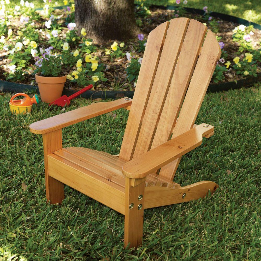 Wooden Kids Adirondack Chair - Honey
