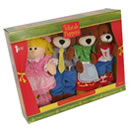 Tellatale Goldilocks & 3 Bears Puppet Set