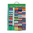 Football Leagues Chart Fabric Wall Hanging