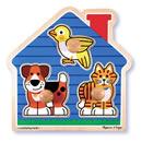 Pets Large Peg Wooden Puzzle