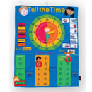 Tell The Time Fabric Wall Hanging