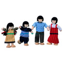Asian Wooden Doll Family - 'The Willows'