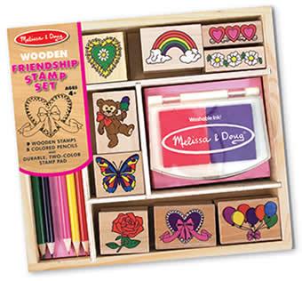 Wooden Stamp Set -  Friendship