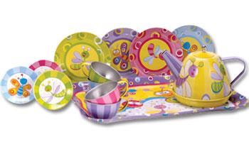 Children's Summer Bugs Tin Tea Set