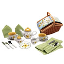 Buzzy Bee Tea Set and Picnic Basket