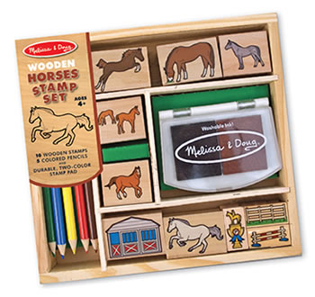 Wooden Stamp Set - Horses