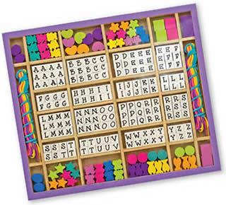 Wooden Alphabet Bead Set